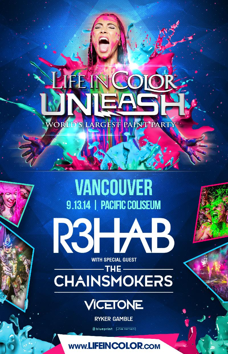 Blueprint events life in color unleash pacific coliseum purchase tickets malvernweather Choice Image