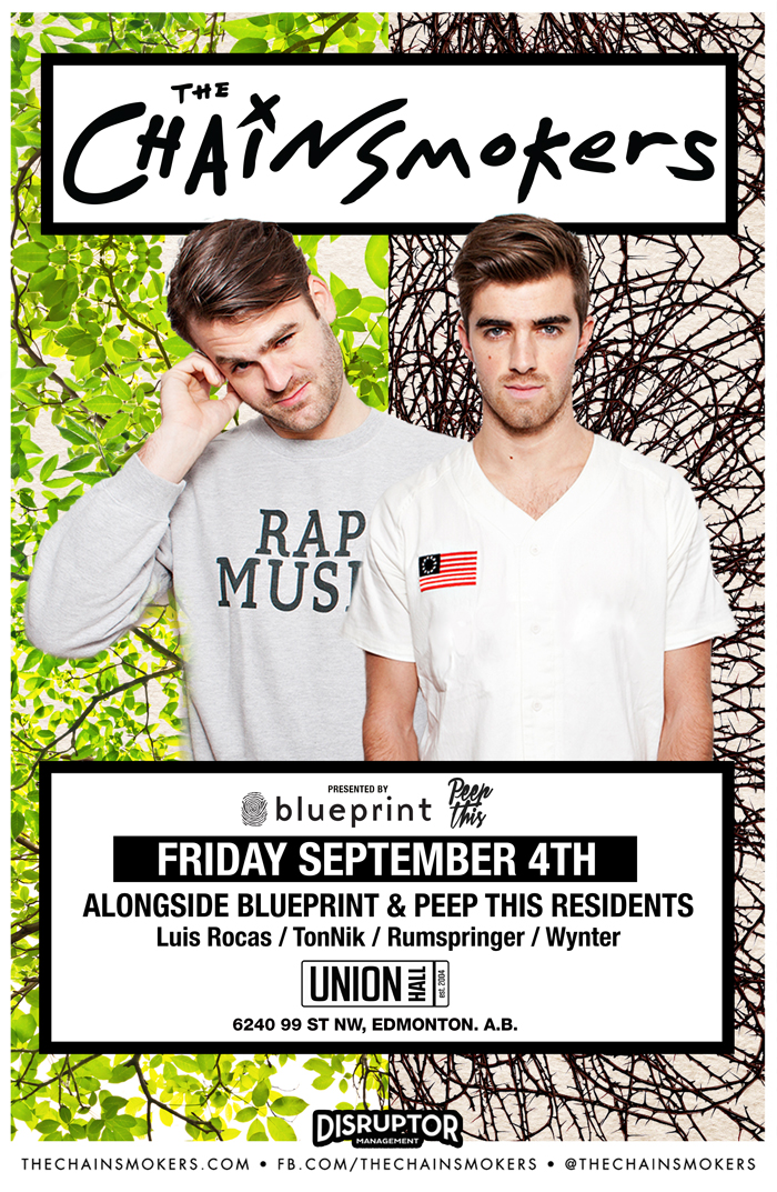 Blueprint alberta the chainsmokers union hall purchase tickets malvernweather Images