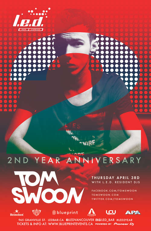 Blueprint events tom swoon led bar 2 yr anniversary purchase tickets malvernweather Image collections