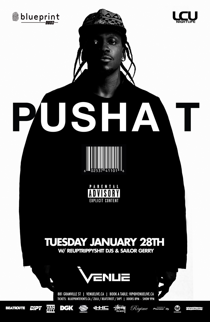 Blueprint events pusha t blueprintlive venue purchase tickets malvernweather Gallery