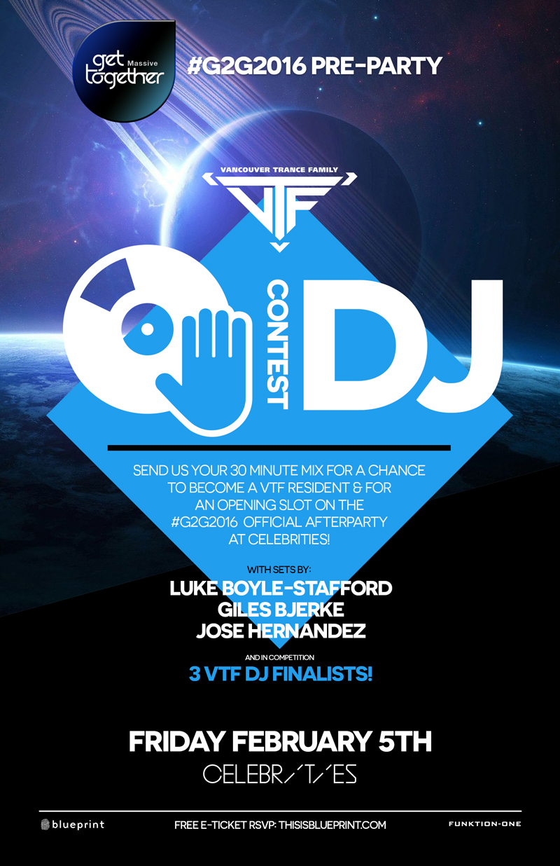 Blueprint events vtf dj competition g2g2016 pre party purchase tickets malvernweather Gallery