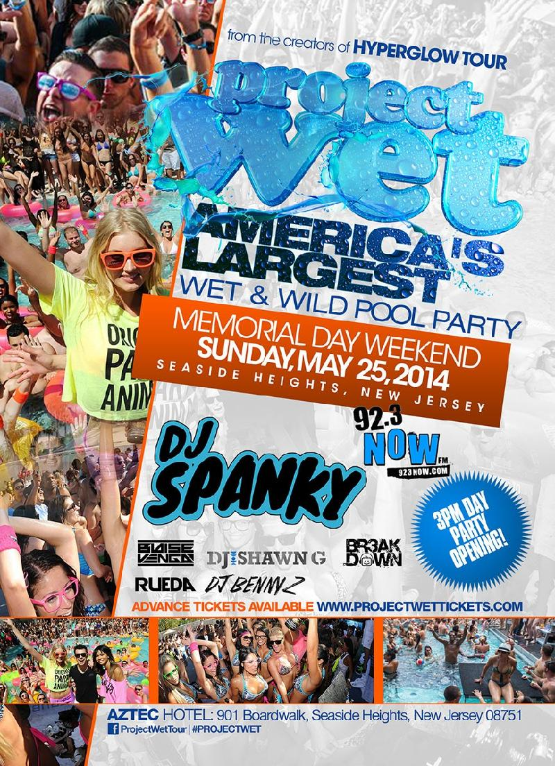 Project Wet MDW 2014 Seaside Heights NJ Americas Largest Wet  Wild Pool Party