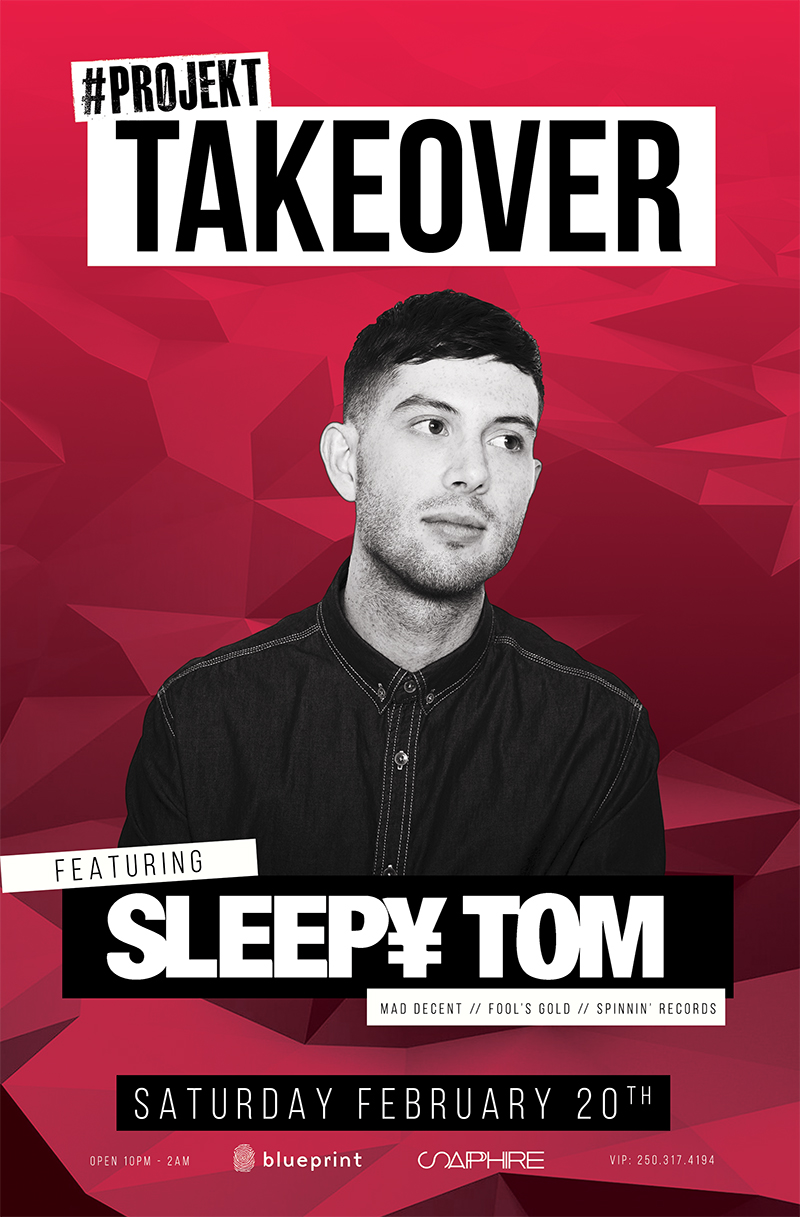 Blueprint events projekt takeover feat sleepy tom purchase tickets malvernweather Image collections