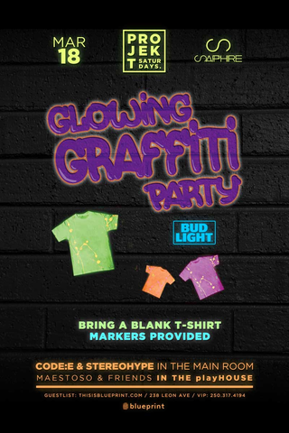 Blueprint events projekt glowing graffiti party sapphire purchase tickets malvernweather Images