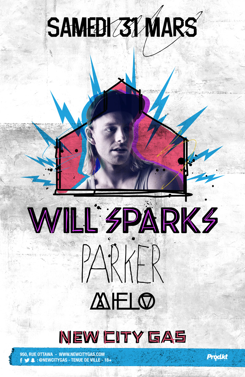 Will Sparks + Parker + Mielo au New City Gas | 31 Mars ...