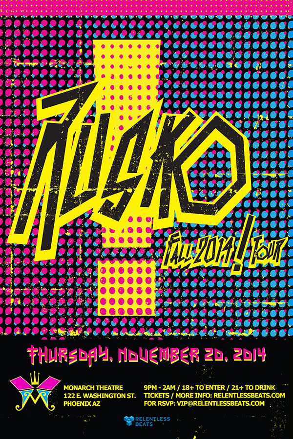 Rusko  Monarch Theatre  Fall2014  Tour