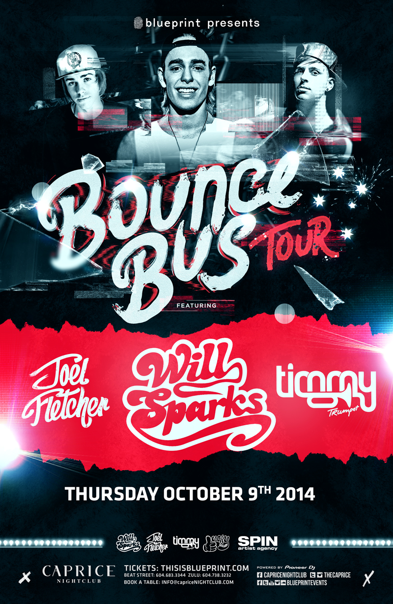 Blueprint events will sparks bounce bus tour caprice purchase tickets malvernweather Images