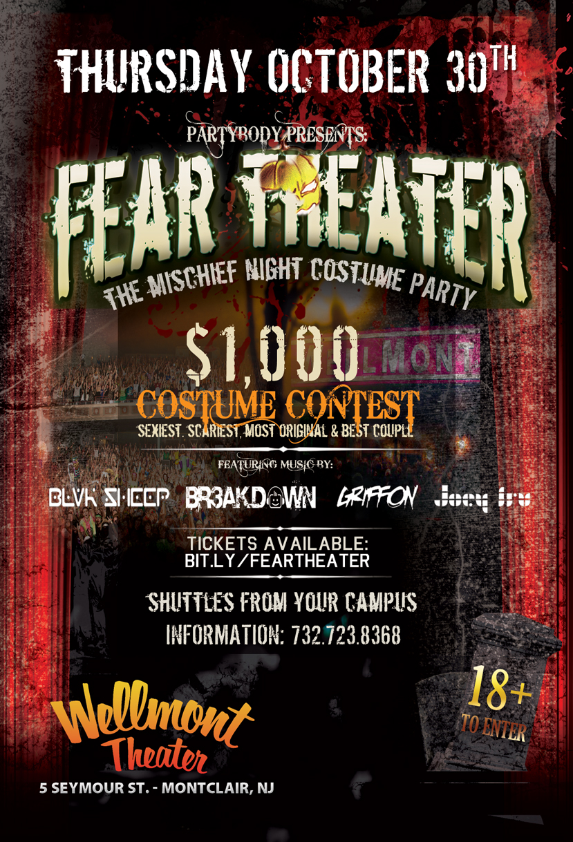 Fear Theater  NJs Largest Halloween Custome Party