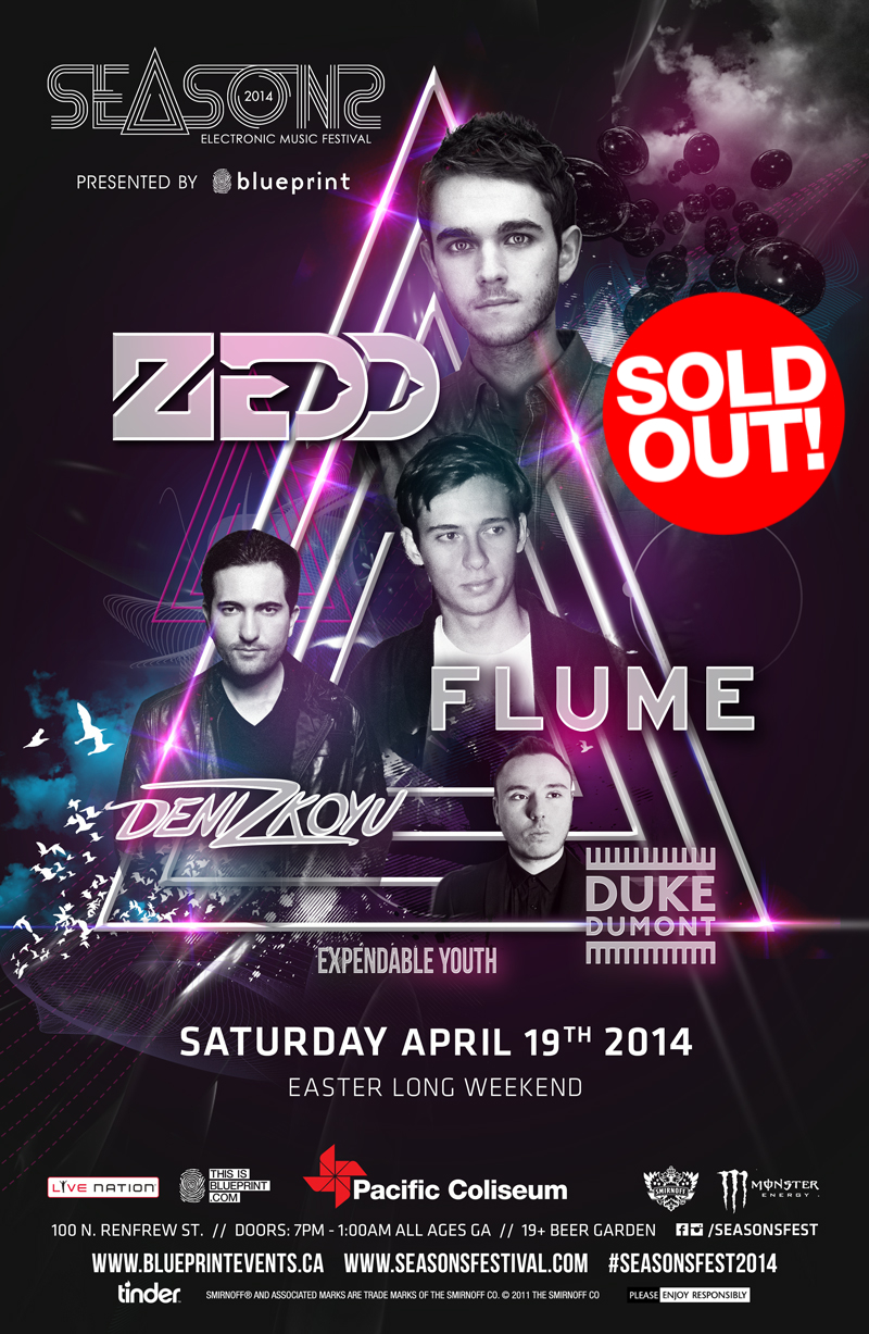 Blueprint events sold out seasons festival ft zedd flume performing artists click on artist for reviews and previews malvernweather Gallery