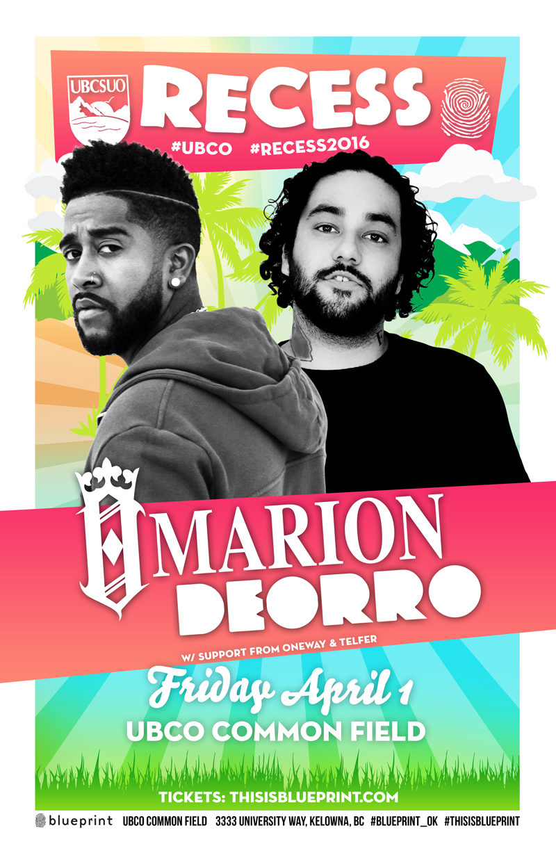 Blueprint events recess w omarion deorro recess2016 ubco purchase tickets malvernweather Images