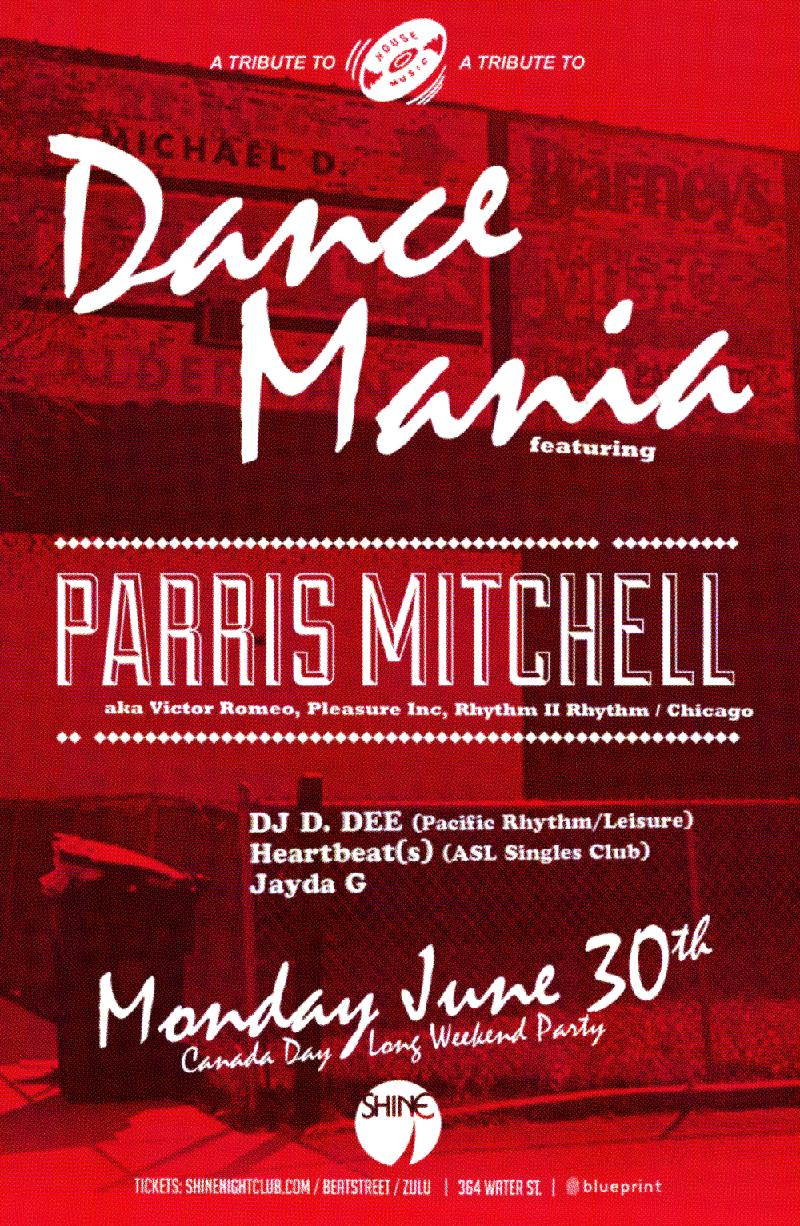 Blueprint events parris mitchell a tribute to dance mania shine parris mitchell a tribute to dance mania shine malvernweather