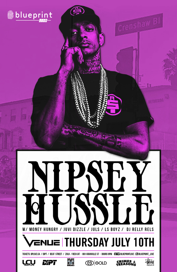 Blueprint events postponed nipsey hustle blueprintlive venue purchase tickets malvernweather