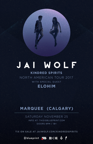 Blueprint alberta jai wolf marquee calgary purchase tickets malvernweather Choice Image