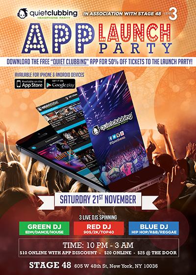 50 off app 2 0 quiet clubbing launch party quiet events new york