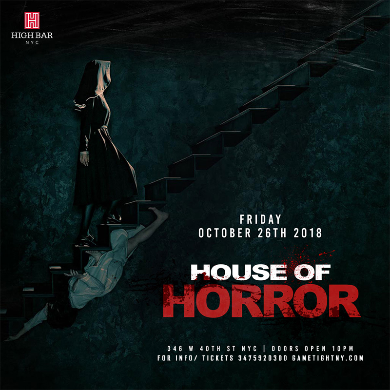 image of highbar nyc house of horror halloween party 2018