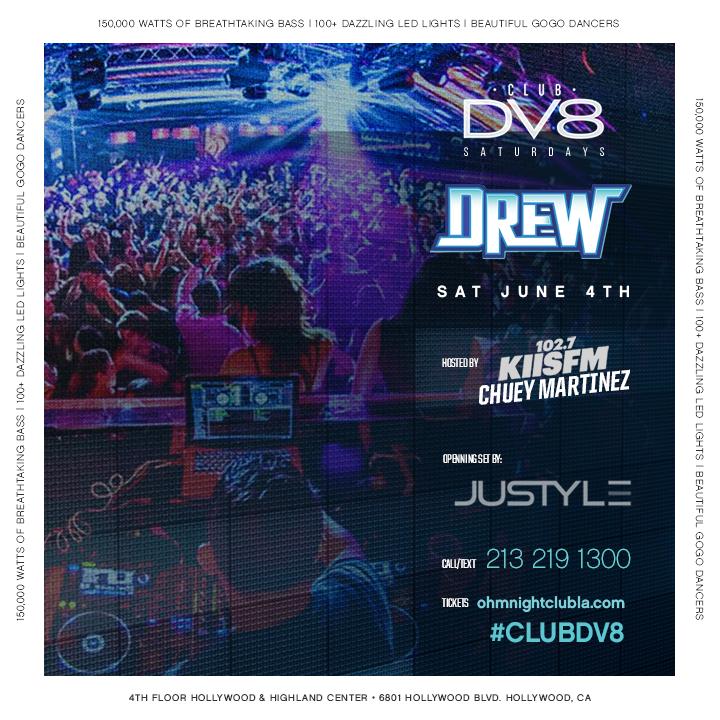 Club dv8 presents dj drew at ohm saturday jun 4 for Table dance near me