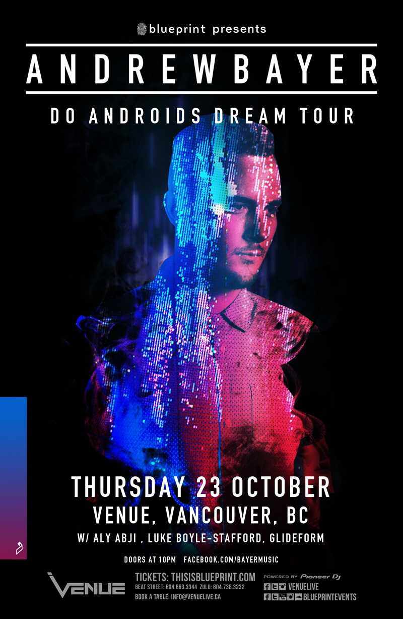 Blueprint events andrew bayer venue purchase tickets malvernweather Gallery