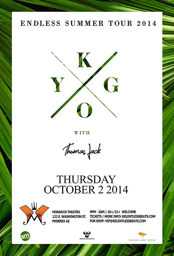 Kygo  Monarch Theatre