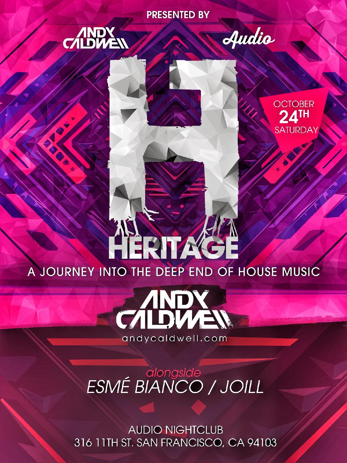 Andy Caldwell Heritage Night w Special Guests TBA Audio SF