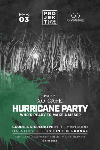 Blueprint events projekt patron hurricane party sapphire purchase tickets malvernweather Choice Image