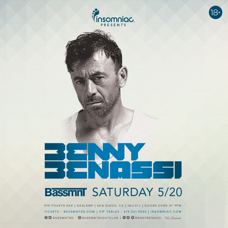 Bassmnt :: Benny Benassi X Insomniac Events At Bassmnt