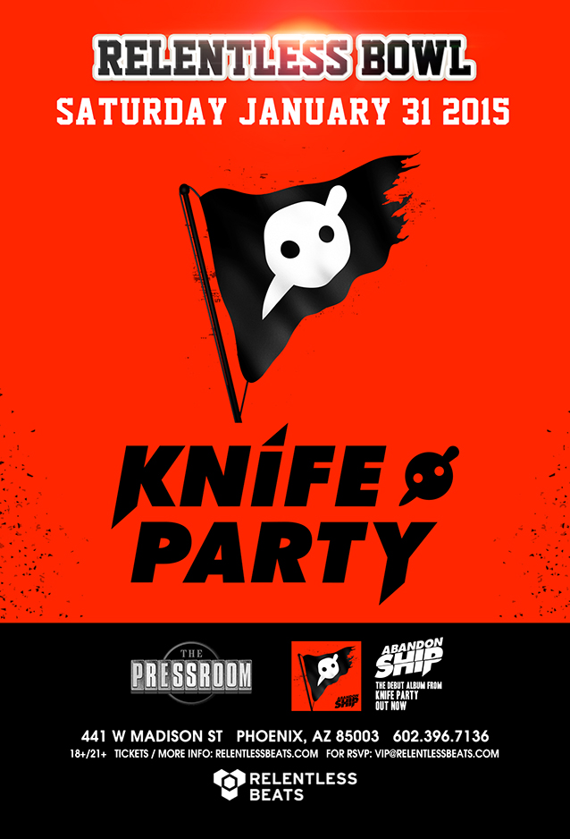 Knife Party  The Relentless Bowl  The Pressroom