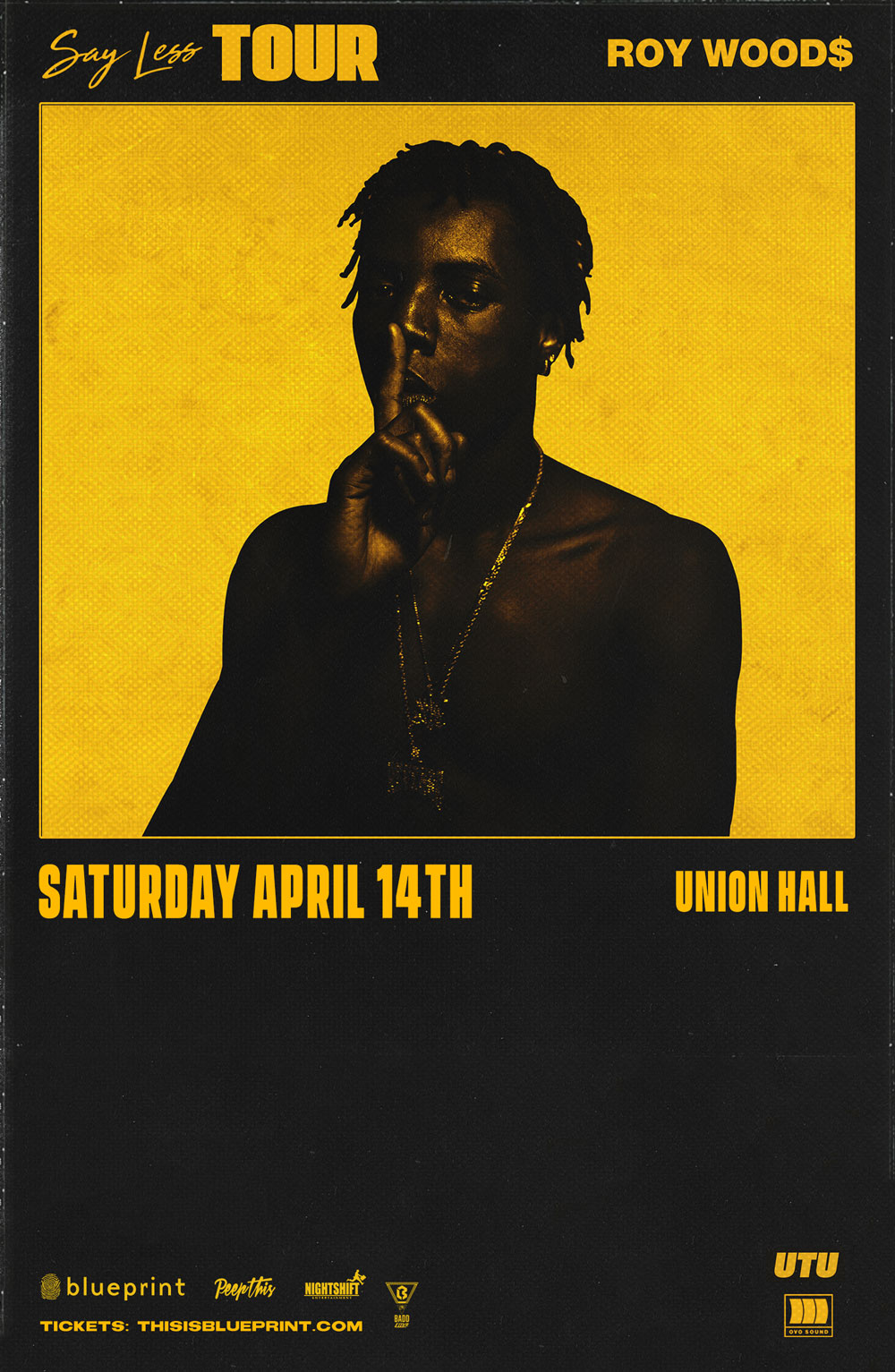 Blueprint alberta roy woods all ages union hall purchase tickets malvernweather Choice Image