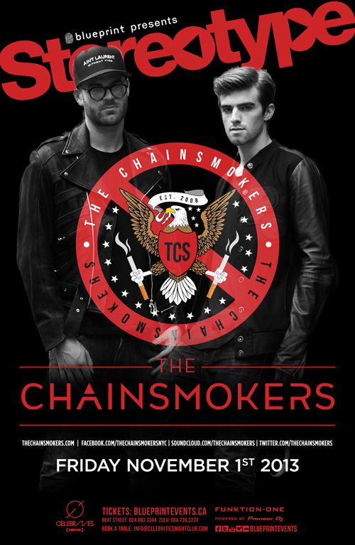 Blueprint events the chainsmokers stereotypefridays malvernweather Image collections