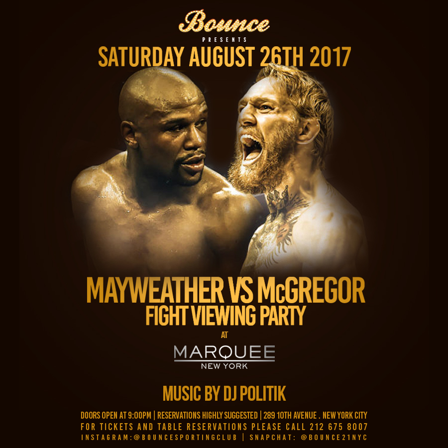 Official Site Of Marquee New York Nightclub Mayweather Vs McGregor - Table reservations nyc