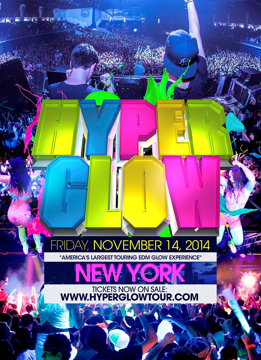 Hyperglow New York City Quot America S Largest Edm Glow Party