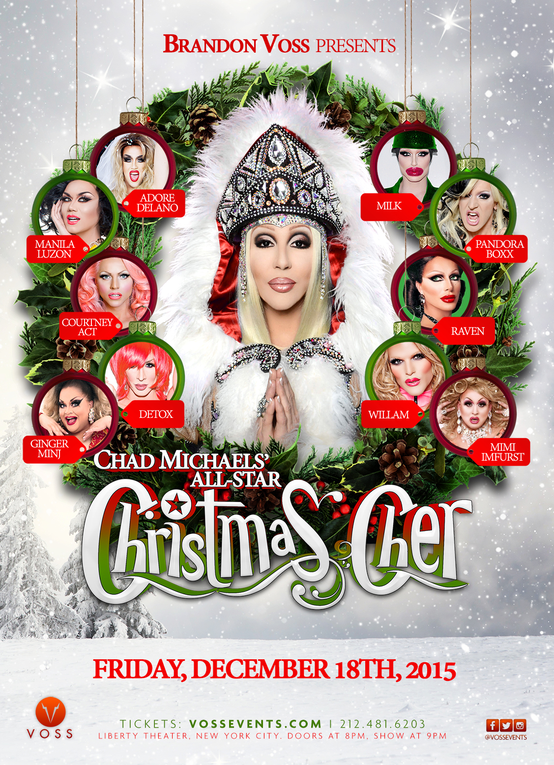 Voss Events & Productions :: Chad Michael's All Star Christmas Cher