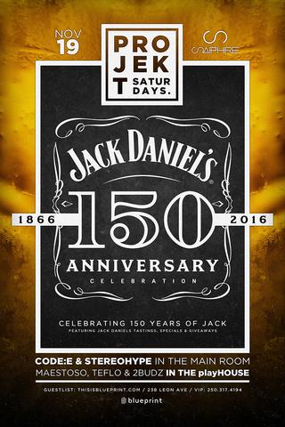 Blueprint events projekt jack daniels 150th anniversary sapphire projekt jack daniels 150th anniversary sapphire malvernweather Choice Image