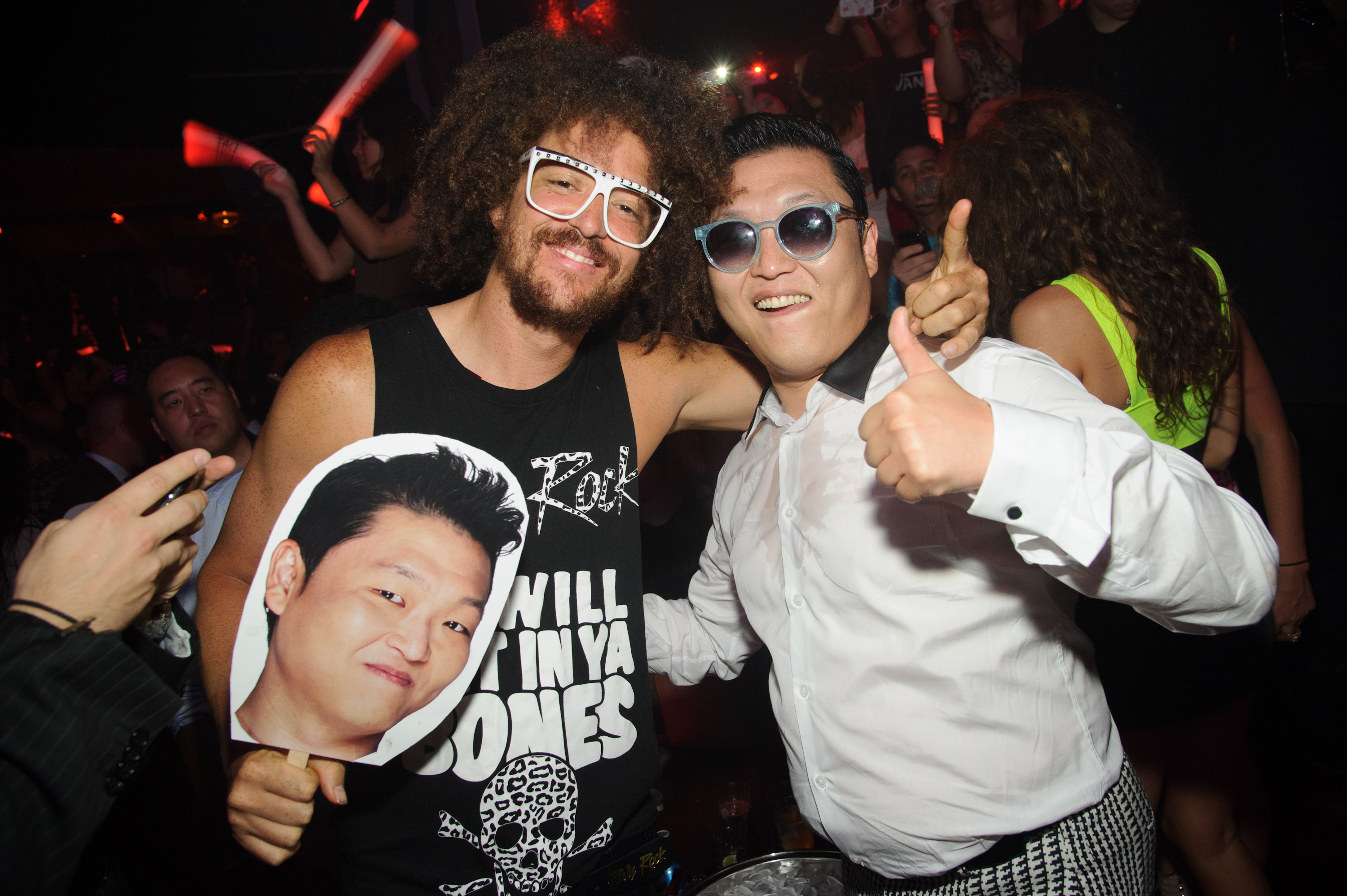 redfoo and psy at TAO nightclub