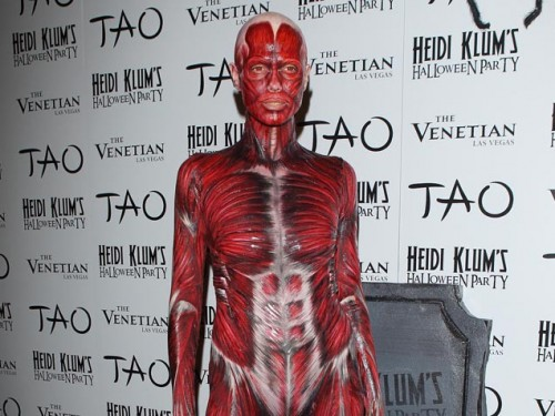 heidi klum in costume at TAO 2011