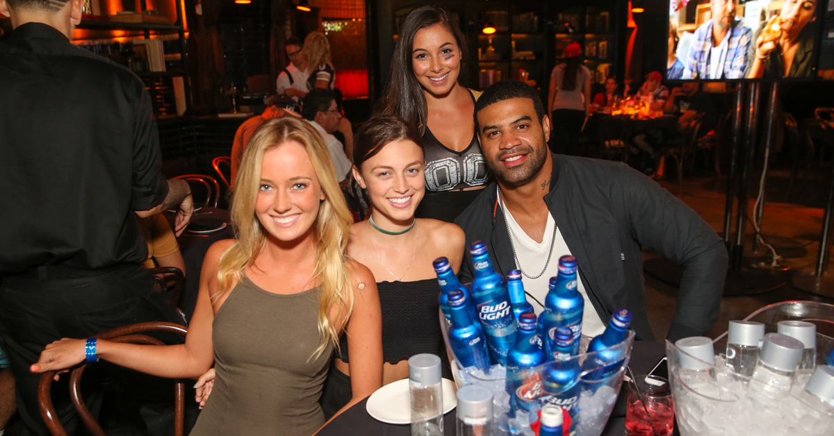 shawn merriman enjoying lavo casino club in vegas