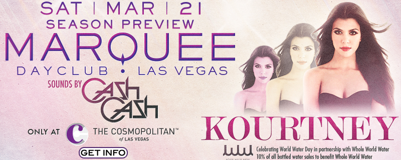 Kourtney Kardashian to appear at Marquee Dayclub