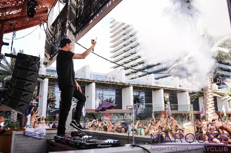 borgeous performing at marquee dayclub las vegas