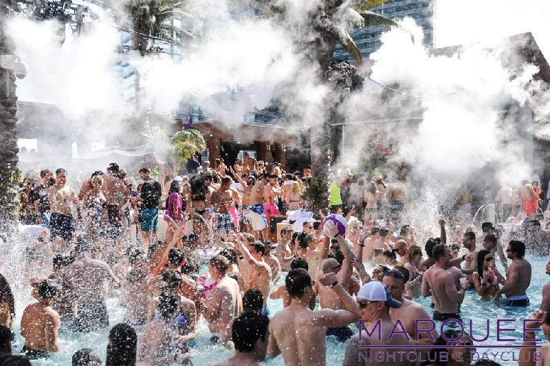 dayclub pool party in full effect at marquee las vegas