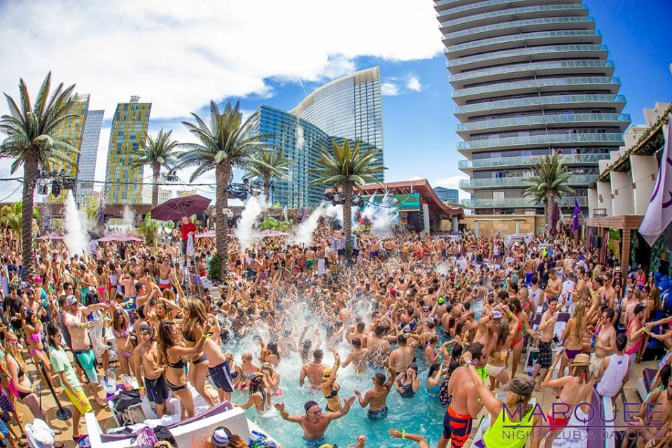 Marquee Dayclub party in Las Vegas