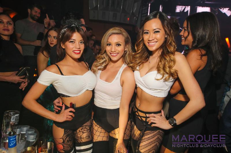 Girls at Marquee Las Vegas Nightclub