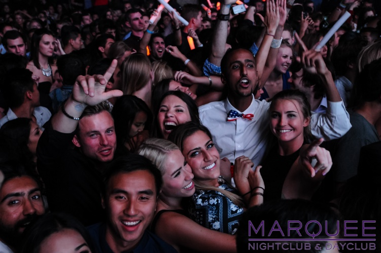 crowd at marquee nightclub