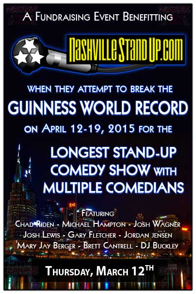 Fundraising Event Benefitting NashvilleStandup.com Guinness World Record