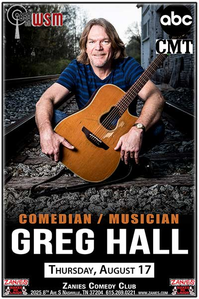 Greg Hall LIVE at Zanies Thursday, August 17, 2017