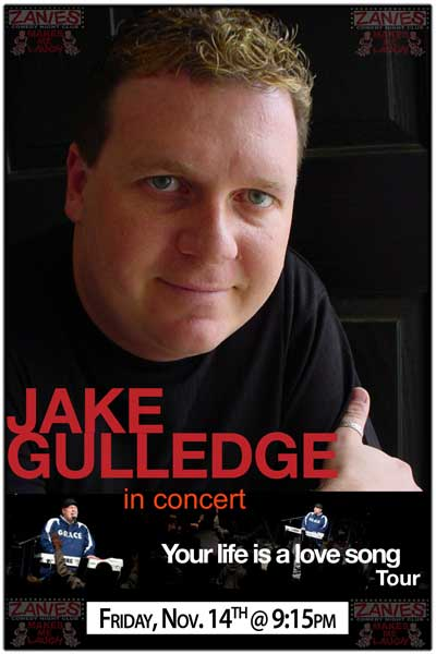 Jake Gulledge in concert Your Life is a Love Song Tour live at Zanies Comedy Club Nashville Friday, Nov 14, 2014 @ 9:15pm