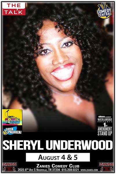 Sheryl Underwood Live at Zanies Comedy Club Nashville August 4 & 5, 2017