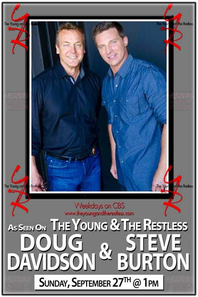 The Young and the Restless: Steve Burton and Doug Davidson live at Zanies Comedy Club Sunday, Sept 27, 2015 at 1pm