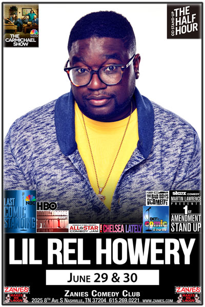 Lil Rel Howery from NBC's The Carmichael's live at Zanies Comedy Club Nashville June 29 & 30, 2017