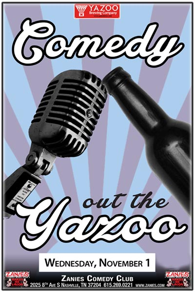 Comedy Out the Yazoo LIVE at Zanies Comedy Club Nashville Wednesday, November 1, 2017