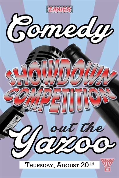Comedy Out the Yazoo Showdown Competition August 20, 2015 live at Zanies Comedy Club Nashville