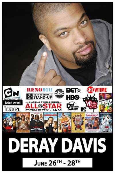 Deray Davis June 26-28 live at Zanies Comedy Club Nashville